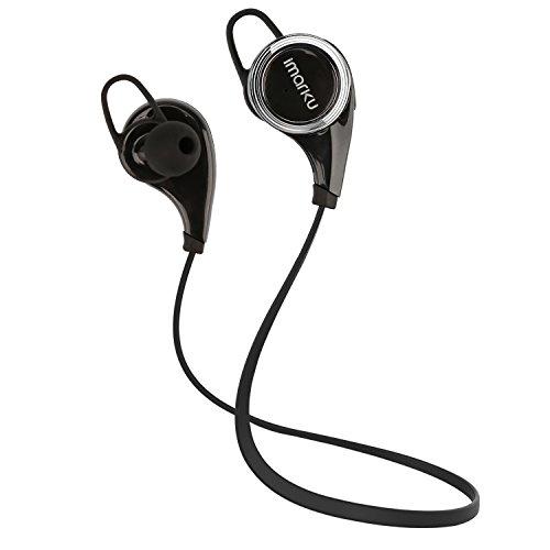 [アイマーク]Imarku 正規品 メーカー1年保証 Bluetoothイヤホン Bluetooth 4.0 ステレオヘッドセット CVC6.0ノイズキャンセニング搭載 ワイヤレススポーツイヤフォン マイク内蔵 高音質 防汗 防滴 ランニング ジョギング用 ハンズフリー ブラック 技適認証済