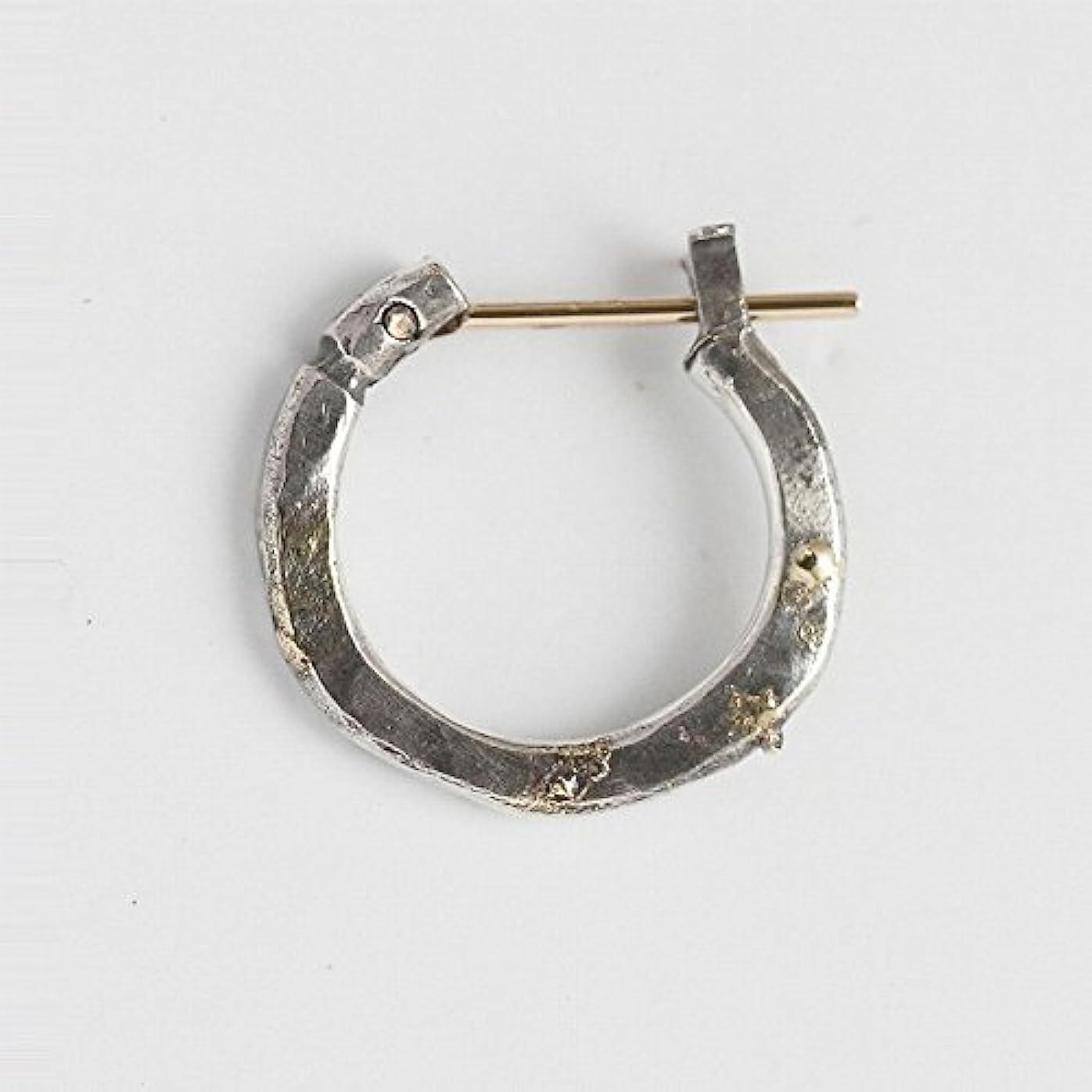 ターミナル被るうなるVIVIFY ビビファイ ピアス 18Kゴールド シンプルK18goldpost Hammered Hoop Pierce(S) w/gold 受注生産 (ONE COLOR)