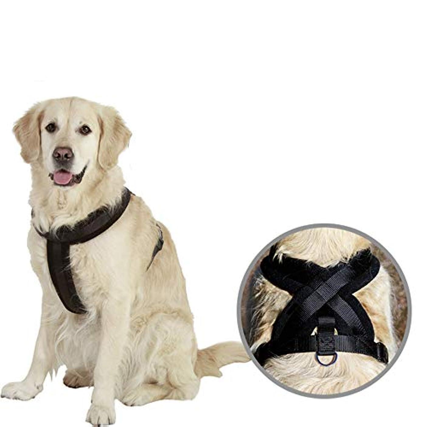アトミックテレックス生物学犬用ハーネス調節可能ベストハーネス屋外アドベンチャートレーニングウォーキングコンフォートコントロール(牽引ロープなし),M