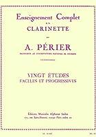 ピエルネ : 20のやさしく漸新的な練習曲 (クラリネット教則本) ルデュック出版