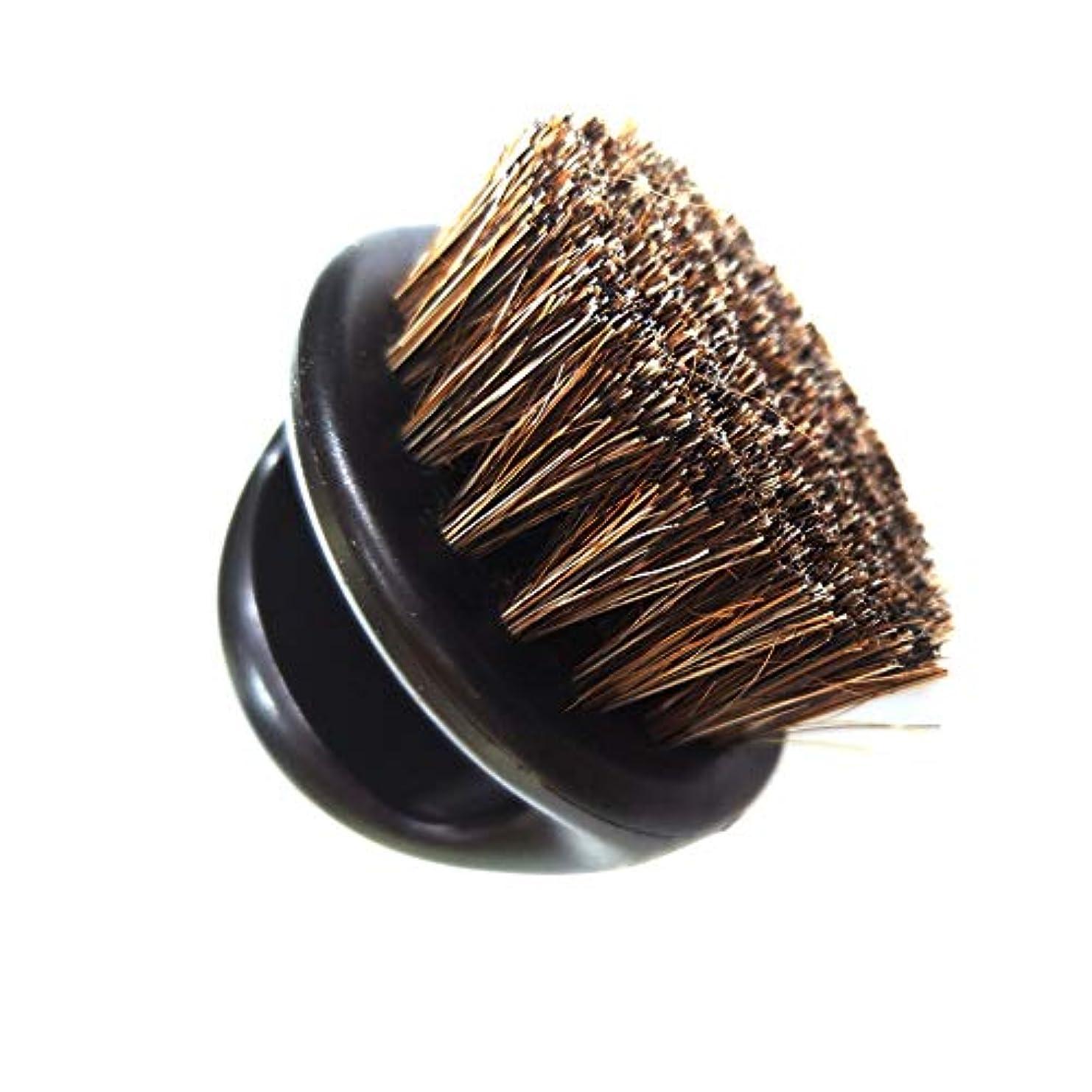 試す有効なゾーンポータブルブラシ口ひげ男性ひげあごひげ口ひげ顔の毛のブラシプラスチック製のハンドルのシェービングブラシは、彼のひげ黒ひげの美容室をとかすする1
