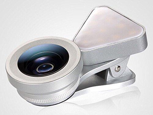 Excellence スマホ用カメラレンズ 1台3役 LEDライト