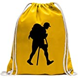 Hiking Trekking Figure Drawstring Backpack Sport Beach Gym Bag