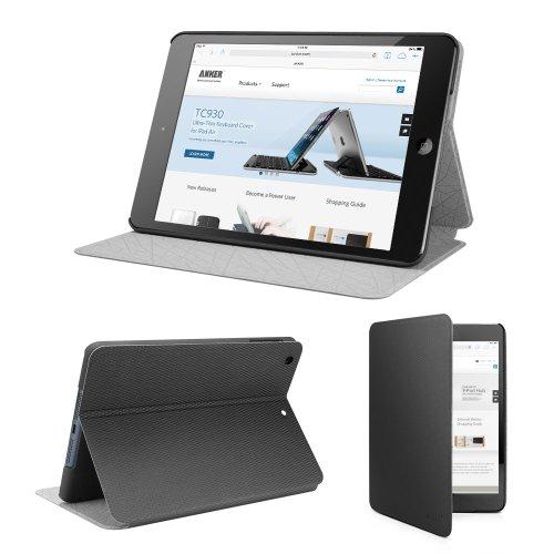 Anker iPad mini Retina/iPad mini2/iPad mini3 専用 合皮レザーケース インナーケース&マルチアングルスタンド付属