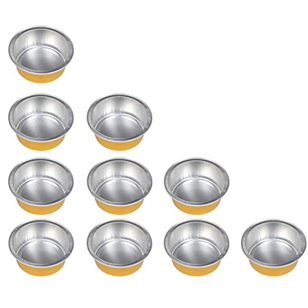 チャンバー構想するレシピ10個セット ワックスボウル ミニボウル アルミホイルボウル ワックス豆体 溶融 衛生的 2種選ぶ - ゴールデン1