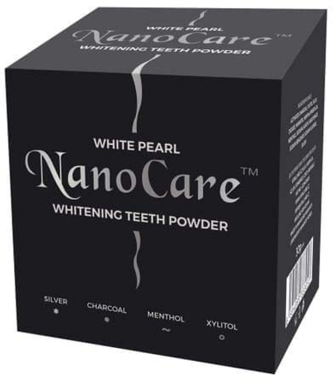 先見の明結び目そのようなNano Care Whitening Powder with Active Charcoal and Silver nanoparticles 30g Made in Korea / 活性炭と銀ナノ粒子30gのナノケアホワイトニングパウダー韓国製