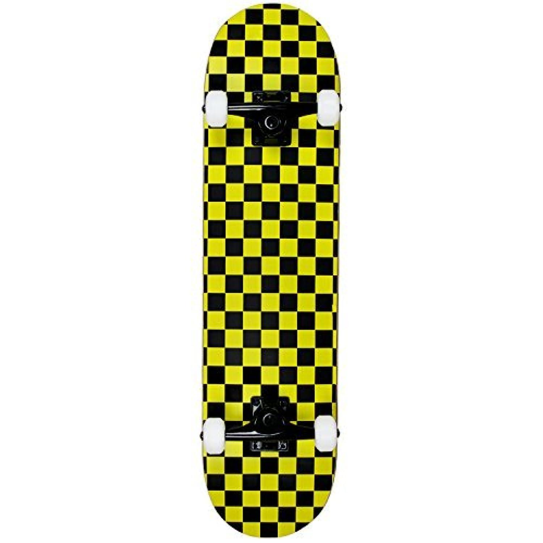 Krown Rookie Checker Skateboard Black/Yellow 7.75 [並行輸入品]