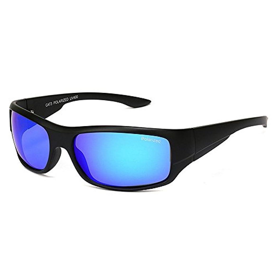 雇う駐地モッキンバードスポーツサングラス 古典的なTAC色レンズUV400保護耐久性のあるスポーツサングラス偏光運転サイクリングランニング釣りゴルフ ドライブ/野球/自転車/釣り/ランニング/ゴルフ/運転 男女兼用