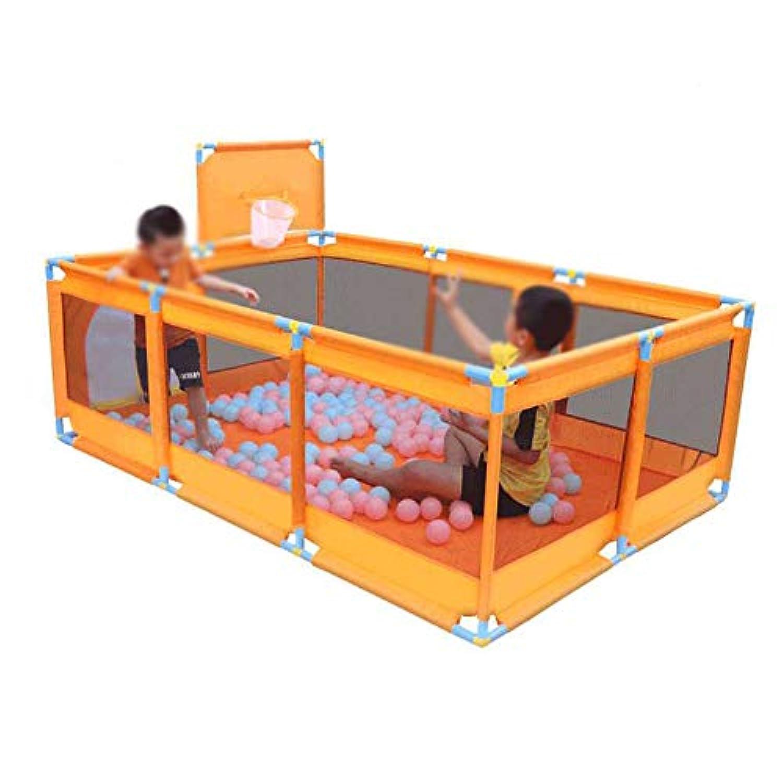 ポータブルチャイルドベビープレイペン旅行コットンベッドクロール遊び場屋内屋外公園プレイス (色 : Orange)