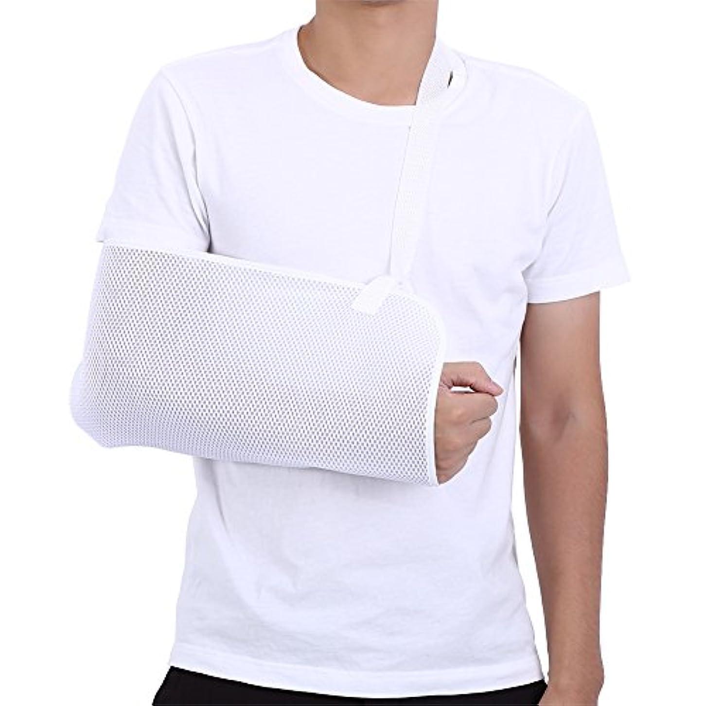 アームリーダー 腕つり用サポーター ネオプレン☆安定感 メッシュ 通気性良い アームホルダー 腕の骨折?脱臼時のギプス固定に 調節可