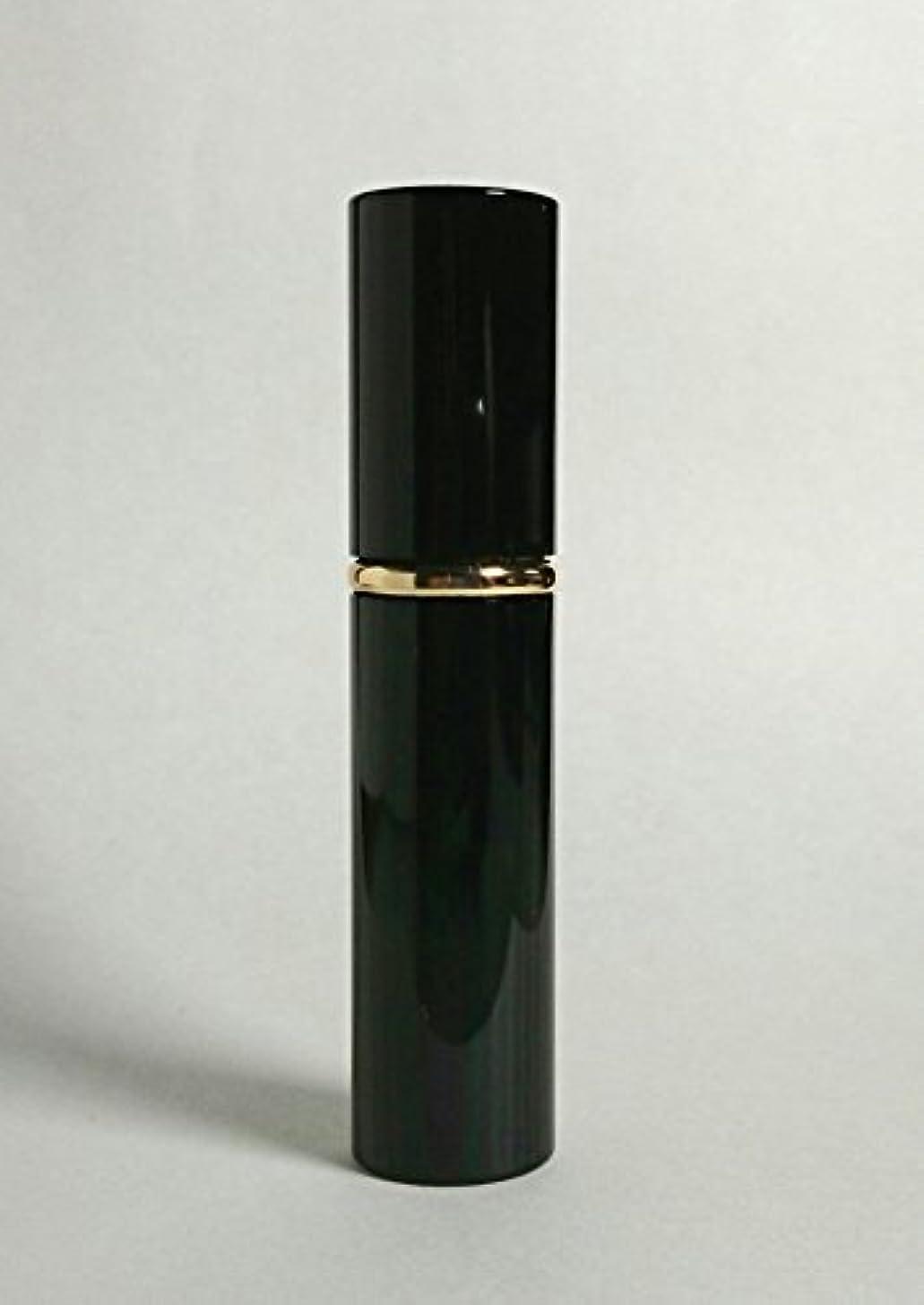 ディーラーヒットリムChicca Cerchio (キッカチェルキオ) 大人香るアトマイザー メタル ブラック 男女兼用 香水入れ ロート付き (黒)