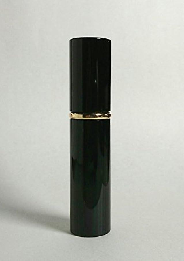 Chicca Cerchio (キッカチェルキオ) 大人香るアトマイザー メタル ブラック 男女兼用 香水入れ ロート付き (黒)