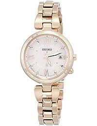 [ルキア]LUKIA 腕時計 ルキア ソーラー電波 ダイヤモンド入りピンク文字盤 チタンモデル サファイアガラス 10気圧防水 SSQV058 レディース