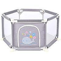 安全な保護フェンス6パネルアクティビティセンター安全プレイヤード男の子と女の子 (色 : Gray)