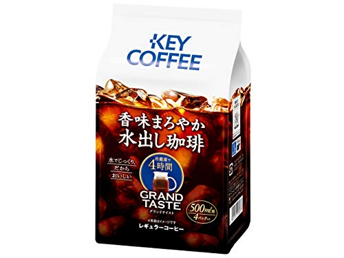 キーコーヒー 香味まろやか 水出し珈琲 コーヒーバッグ 4パック 140g