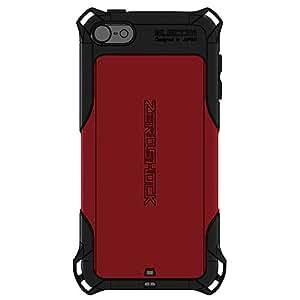 エレコム iPod touch 2015 衝撃吸収ケース ゼロショック 四角ダンパーが衝撃を吸収 ストラップホール付 レッド AVA-T15ZERORD