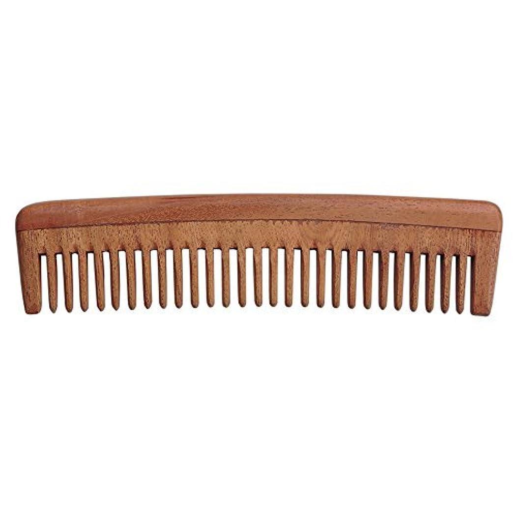 非互換混合着実にHealthGoodsIn - Pure Neem Wood Wide Tooth Comb for Shiny Hair | Wide Tooth Comb | Natural and Organic for Hair...