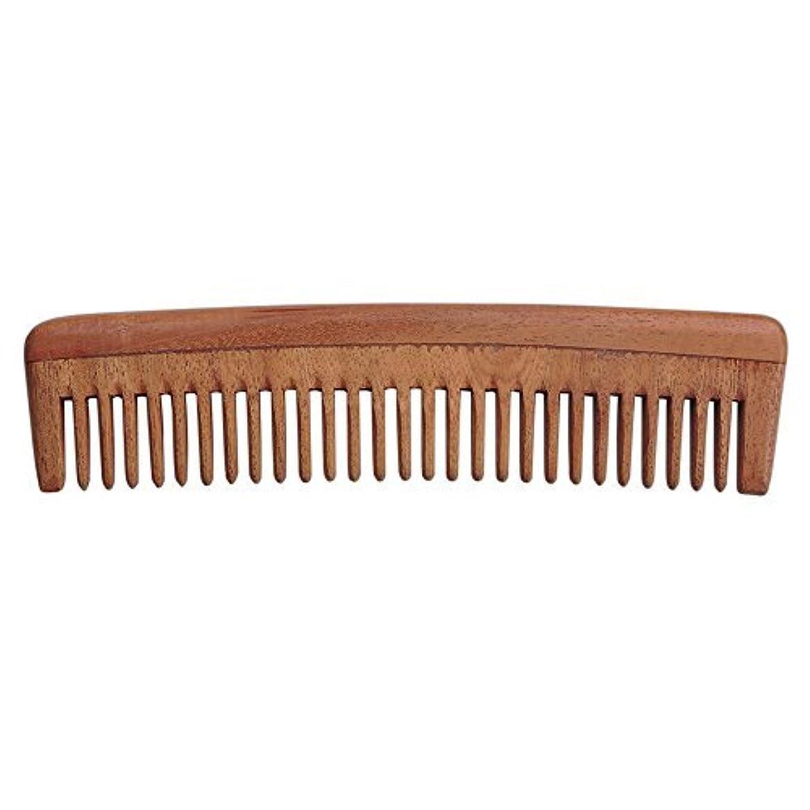 リゾート剛性ルビーHealthGoodsIn - Pure Neem Wood Wide Tooth Comb for Shiny Hair   Wide Tooth Comb   Natural and Organic for Hair...