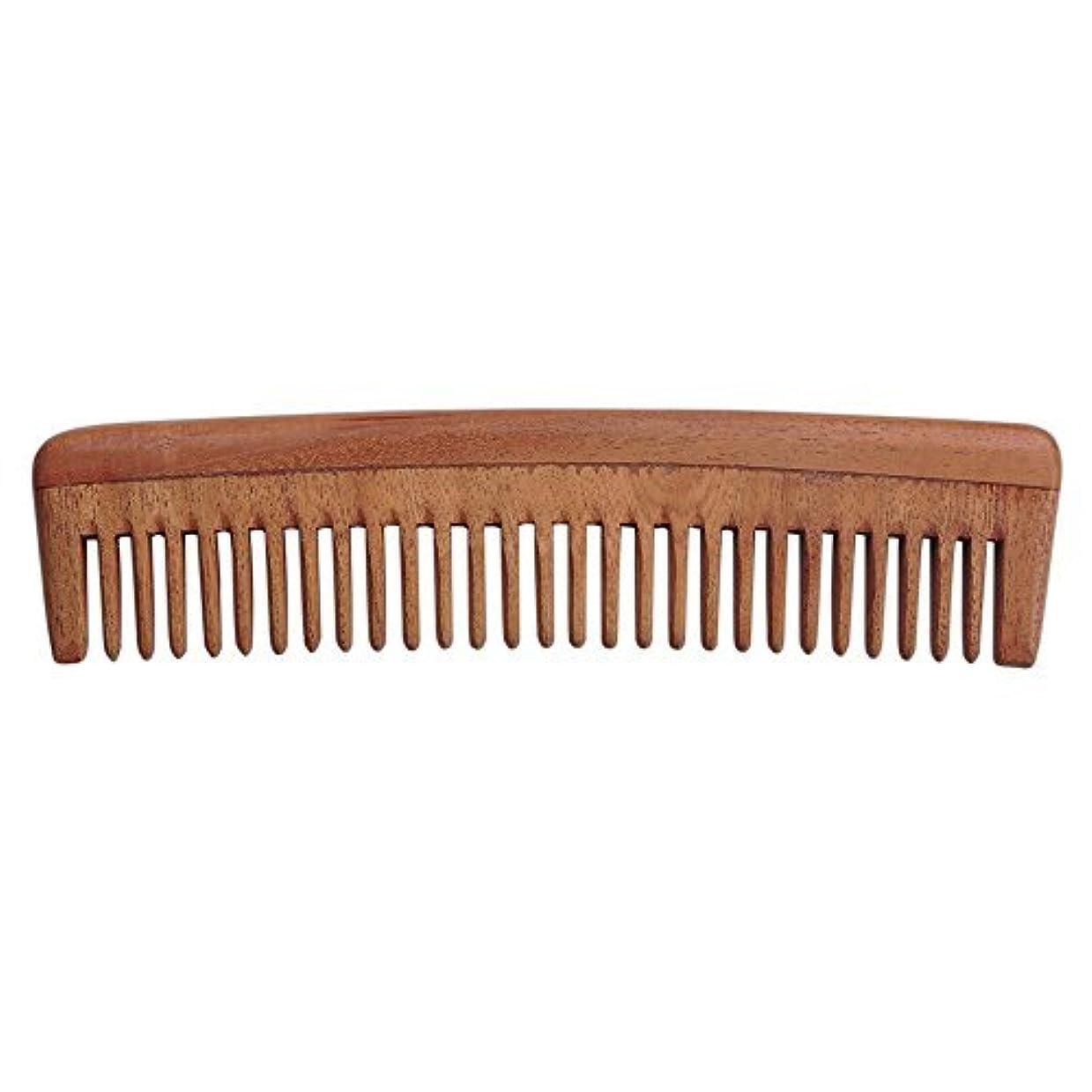 作物スーパーマーケットワーカーHealthGoodsIn - Pure Neem Wood Wide Tooth Comb for Shiny Hair | Wide Tooth Comb | Natural and Organic for Hair...