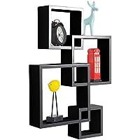 wotlu交差する正方形フローティング壁棚装飾シェルフ、A # 88-a ブラック