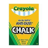 [クレヨラ]Crayola Nontoxic AntiDust Chalk, White, 12 Sticks/Box Case of 72 Dozens 50-1402 [並行輸入品]