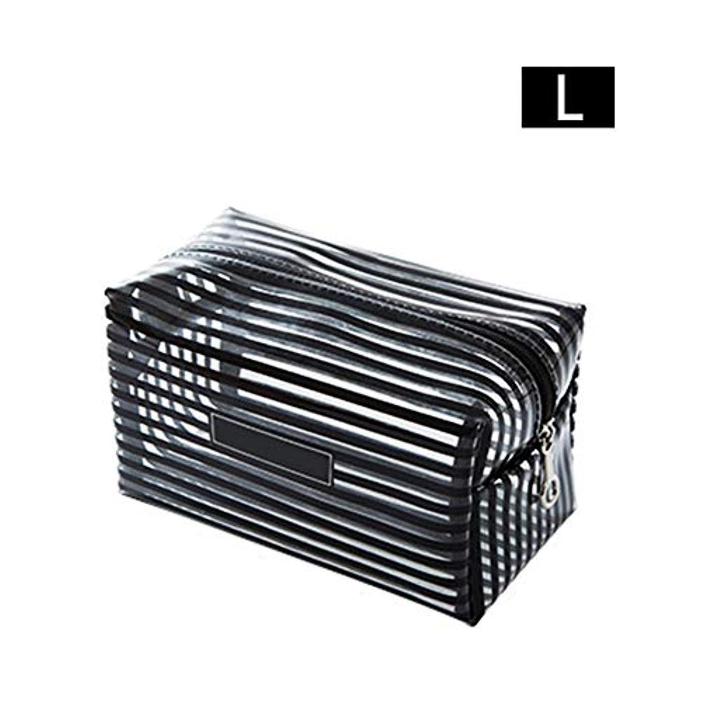 継承復活する分析的Ling(リンー) 透明化粧ポーチ おしゃれ メイクポーチ 収納ケース 化粧品収納 小物収納 耐久性 防水 PVC製