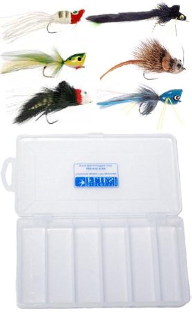 誤キャッシュ円形のTop水ベースPike Fly Assortment – 6 Flies +フライボックス