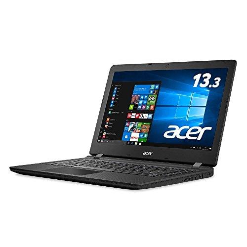 Acer ノートパソコン AspireES13 ES1-332-F14P/K(ミッドナイトブラック) Windows10/Celeron/13.3インチ/4GB/SSD 64GB