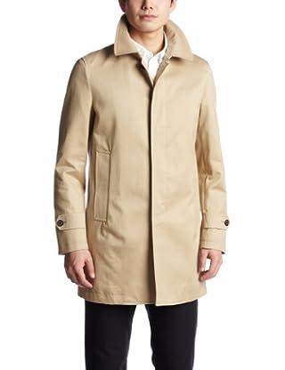 Cotton Twill Short Balmacaan Coat 3125-136-0240: Beige