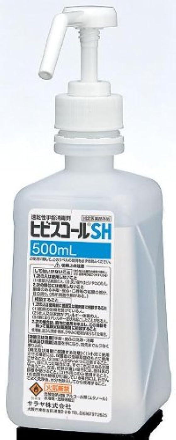 簡単なウィスキー近代化するサラヤ ヒビスコールSH 噴射ポンプ付 500ml×10本【同梱?代引不可】