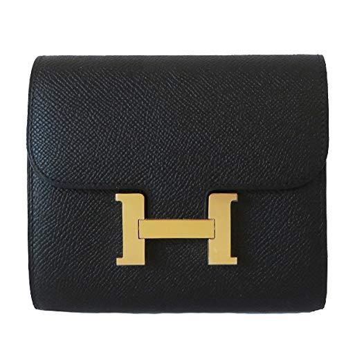 [エルメス] 財布 コンスタンス コンパクト ウォレット 黒 ブラック エプソン ピンクゴールド金具 【新品】 Constance Compact wallet Black Epsom Pink gold Buckle 【NEW】
