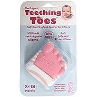 Original Teething Toes Cute Pink Baby Girl Shower Gift Toy by Teething Toes