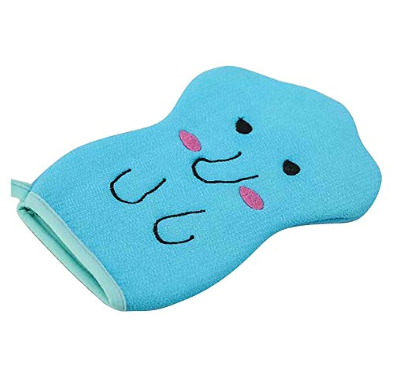 要塞磁器フェザー子供用バスタオル、赤ちゃんかわいい漫画の角質除去バス手袋、C02