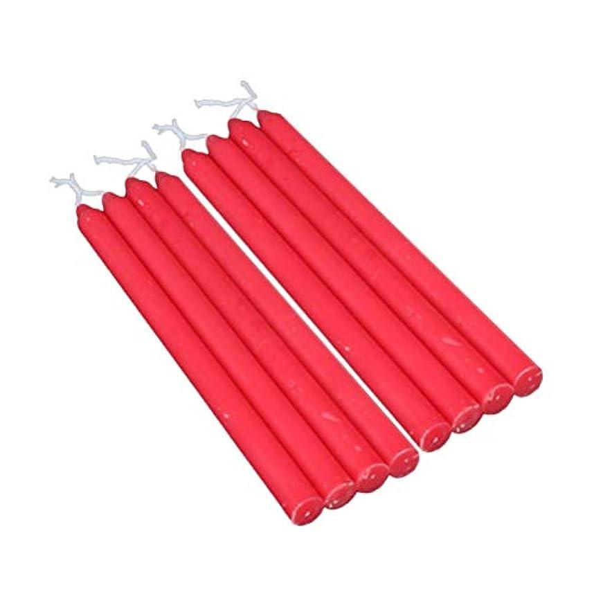 学生マーチャンダイジングシプリーAmosfun 8本の赤い香りのないテーパーキャンドル6.7