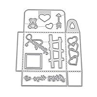 チェリー丁目 ボックス金属切削ダイスステンシルdiyスクラップブッキングアルバムスタンプ紙カードエンボスクラフト装飾
