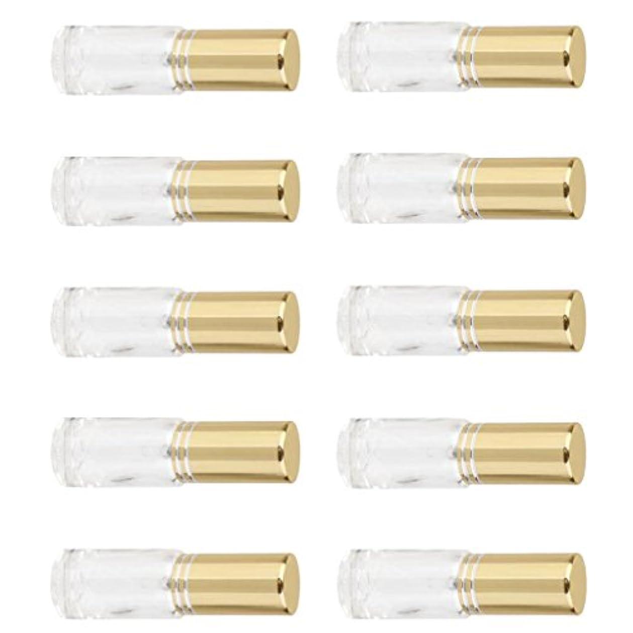 美しいかもめ意図的SONONIA 10個 お買い得 男女兼用 5ml ミニ ガラス 詰め替え可能 香水 空き瓶 アトマイザー ポンプ スプレー 香水瓶 容器