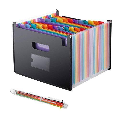 ドキュメントスタンド A4 書類ケース ファイルボックス 24分類 大容量 耐用 …