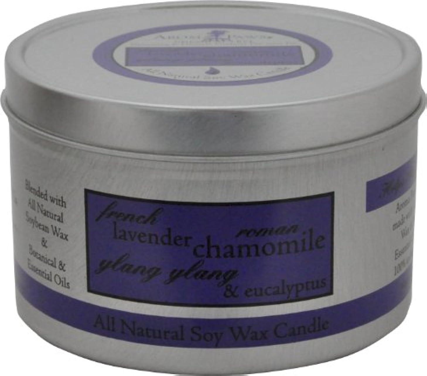 タヒチプレート贅沢なAroma Paws Travel Tin Candle, 8-Ounce, Lavender Chamomile by Aroma Paws