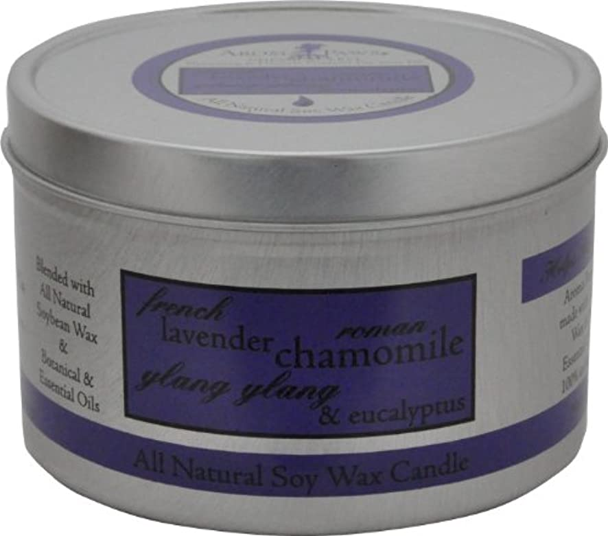 ベッド偽善者用心するAroma Paws Travel Tin Candle, 8-Ounce, Lavender Chamomile by Aroma Paws