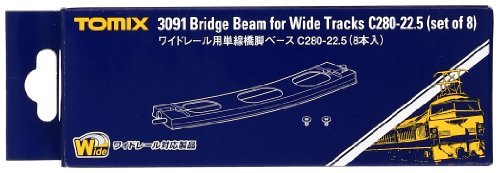 TOMIX Nゲージ 3091 ワイドレール用単線橋脚ベースC280-22.5 (8本入)