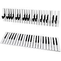 SoBuy®ピアノキーボードタオルコート傘バッグハンガーフックラックスタンドフック、FRG13-W
