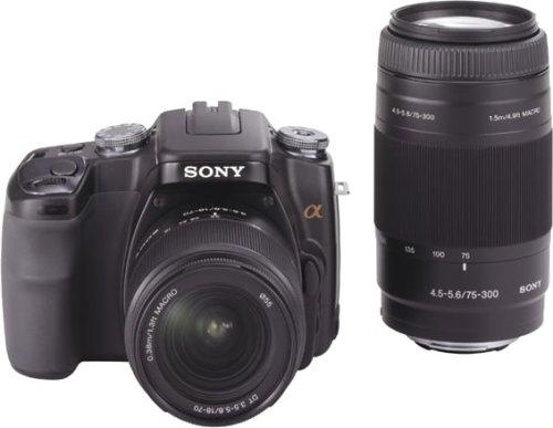 ソニー SONY デジタル一眼レフカメラ α100 Wズームレンズキット ブラック DSLRA100W/B