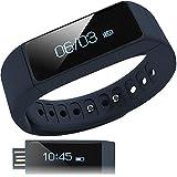 【日本正規代理店】I5 Plus スマートウォッチ ( 活動量計 / 歩数計 / 時計 / 消費 カロリー / 睡眠 / 走行 距離 / 遠隔 カメラ / リマインダー / 生活防水 / リストバンド ) OLED Bluetooth 4.0 / スマホ / iphone / アンドロイド / Samsung / アプリ 日本語対応 (ネイビー)