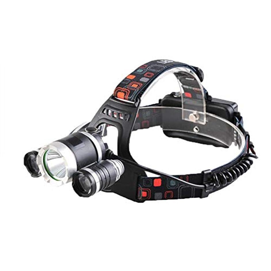 受け継ぐシーズン不運GOIOD LEDヘッドランプ防水コーティングトップ高輝度防災登山釣り夜釣りキャンプヘルメット充電式リチウムイオン蓄電池2本