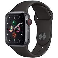 Apple Watch Series 5(GPS + Cellularモデル)- 40mmスペースグレイアルミニウムケースとブラックスポーツバンド - S/M & M/L