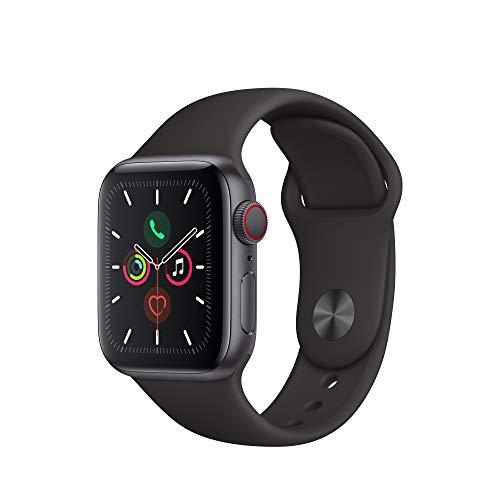 Apple Watch Series 5(GPS + Cellularモデル)- 44mmスペースグレイアルミニウムケースとブラックスポーツバンド - S M & M L