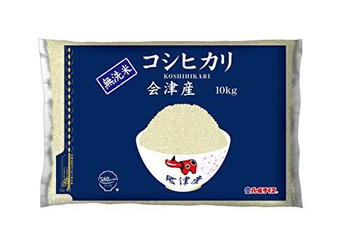 【精米】[Amazon限定ブランド] 580.com 会津産 無洗米 コシヒカリ 10kg 平成30年産