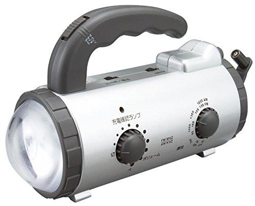 アイリスオーヤマ 防災グッズ 手回し充電ラジオライト JTL-20