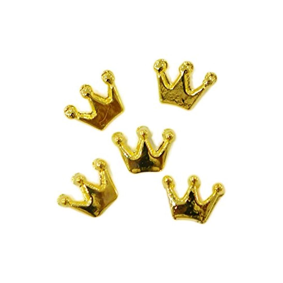 乱雑な粒ダイジェストメタルパーツ crown 6mm×4mm ゴールド 5個 MP10158 王冠