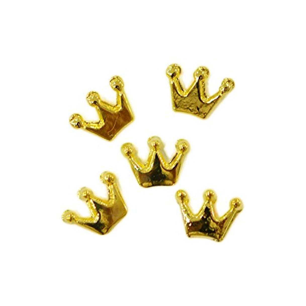 メタルパーツ crown 6mm×4mm ゴールド 5個 MP10158 王冠
